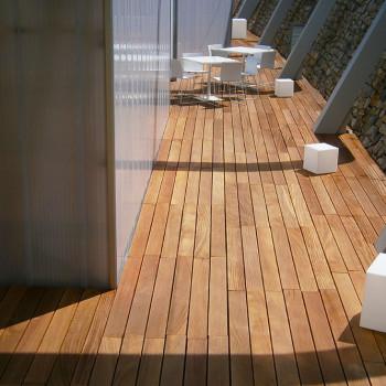 Spa restaurant solid wood deck