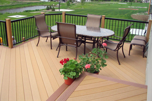 Terrace wood deck