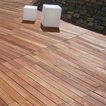 Wellness center wood deck detail