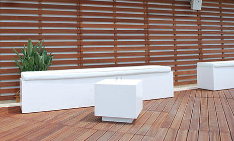Planters and accessories for outdoor