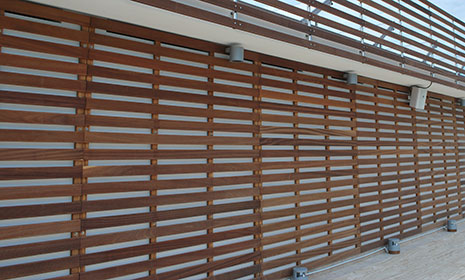 Wood exterior panelling
