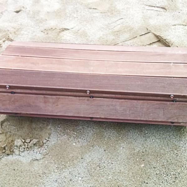 Rolled wood walkway for beachside