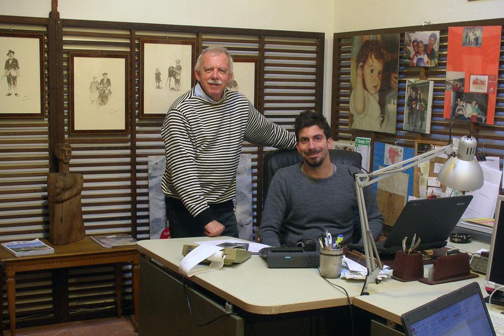 Padre e figlio ideatori del progetto My Tuscan Wood