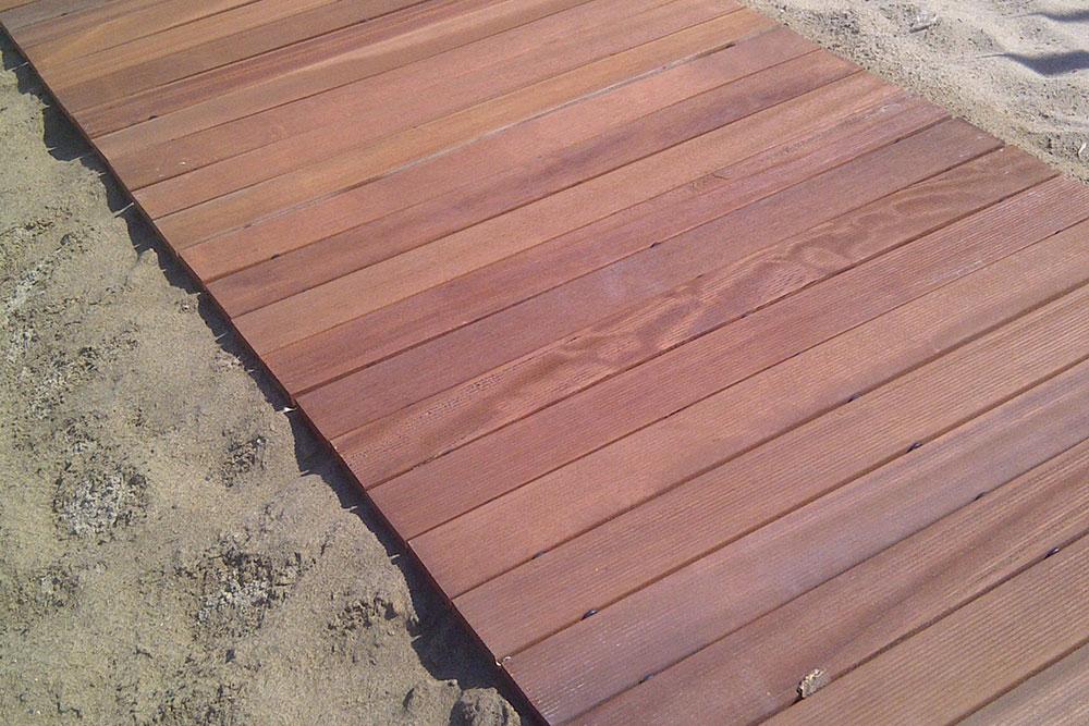 Passerelle in legno per spiaggia - Pedana giardino fai da te ...